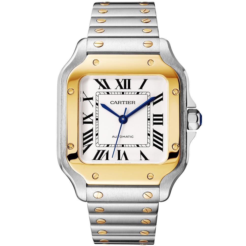 f26aac0c262 Cartier Santos de Cartier Medium Steel   18ct Yellow Gold Men s Watch