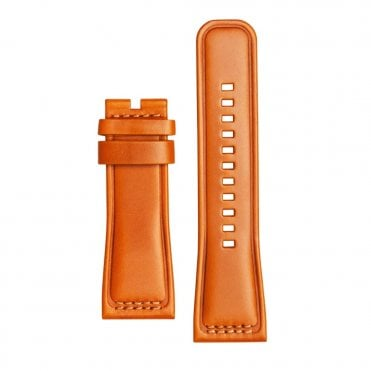 Cognac Calf Leather Watch Strap