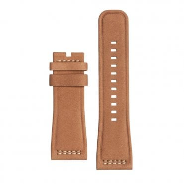 Light Brown Calf Suede Leather Watch Strap