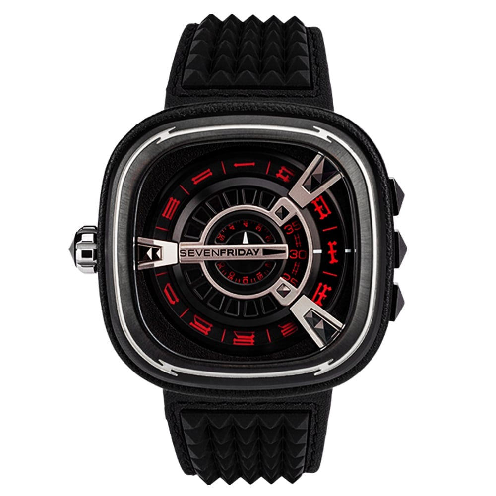 Sevenfriday m series punk m1 04 black red dial limited edition watch for Sevenfriday watches