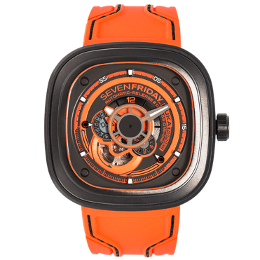 P-Series P3/07 KUKA III Orange/Gunmetal Grey Automatic Watch