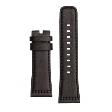 P1B/01 Black Calf Leather Watch Strap