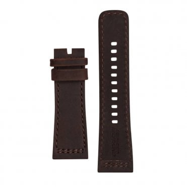 P3/02 Brown Calf Suede Watch Strap