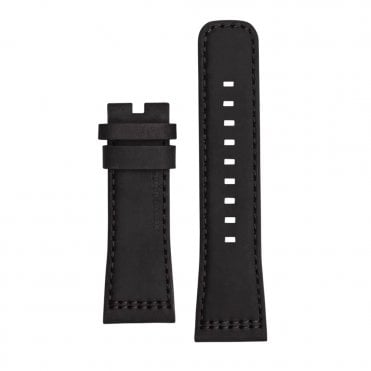 V1/01 Black Calf Leather Watch Strap