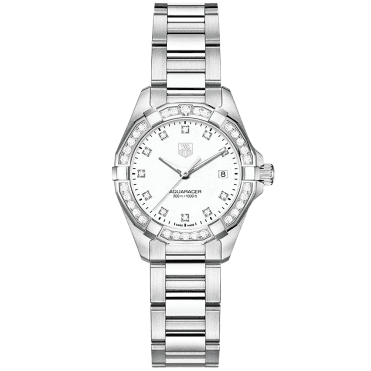Aquaracer 27mm Diamond Dial & Bezel Ladies Bracelet Watch