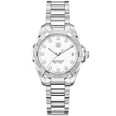 Aquaracer 27mm Diamond Dial Ladies Bracelet Watch