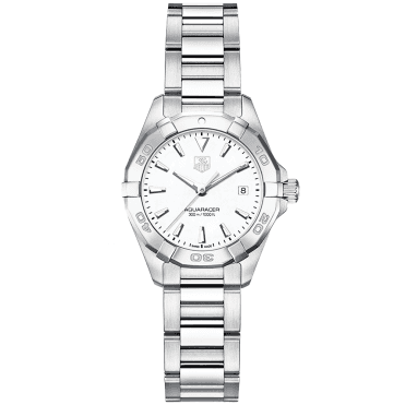 Aquaracer 27mm Mother of Pearl Dial Ladies Bracelet Watch