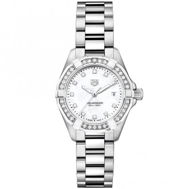 Tag Heuer Aquaracer 27mm Mother Of Pearl Diamond Dial