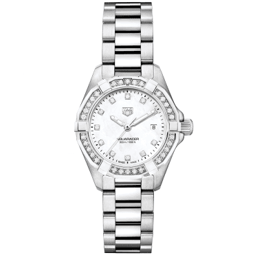 Aquaracer 27mm Mother of Pearl Diamond Dial & Bezel Bracelet Watch