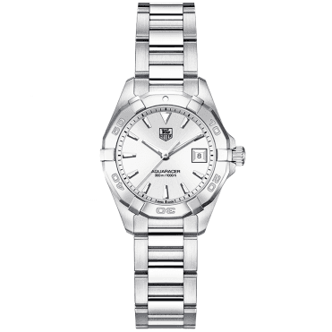 Aquaracer 27mm Silver Dial Ladies Bracelet Watch