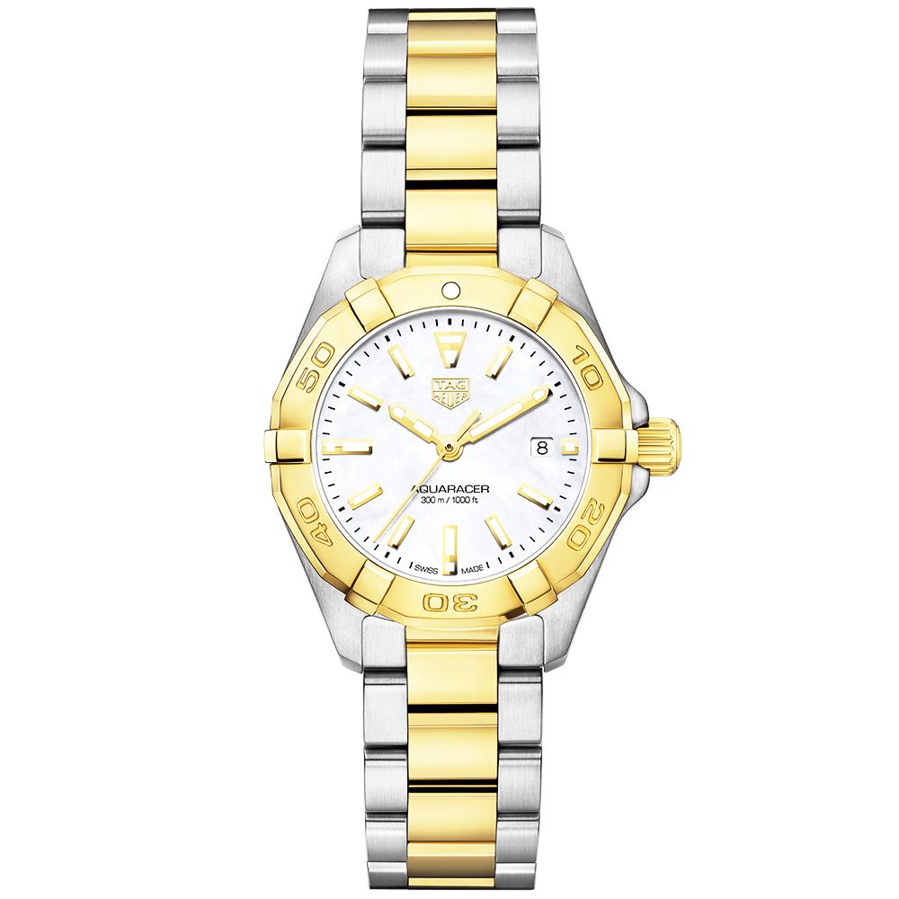 8e3e88e9173 TAG Heuer TAG Heuer Aquaracer 27mm Steel   18ct Yellow Gold Ladies Bracelet  Watch