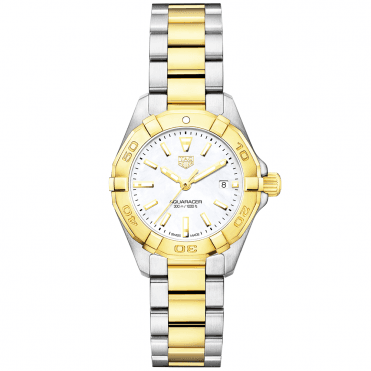 Aquaracer 27mm Steel & 18ct Yellow Gold Ladies Bracelet Watch