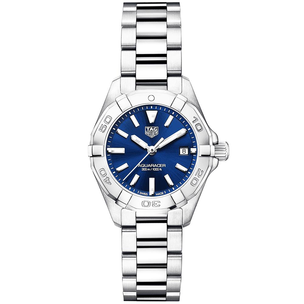 Aquaracer 27mm Steel   Blue Dial Ladies Bracelet Watch 2d9619fea