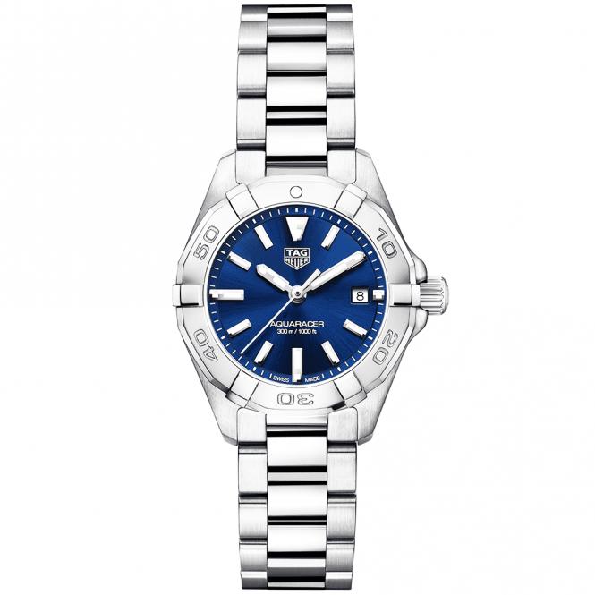 Tag Heuer Aquaracer 27mm Steel Amp Blue Dial Ladies Bracelet