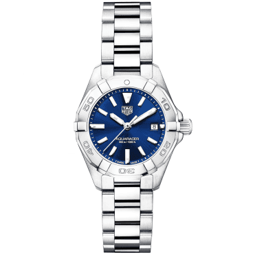 Aquaracer 27mm Steel & Blue Dial Ladies Bracelet Watch