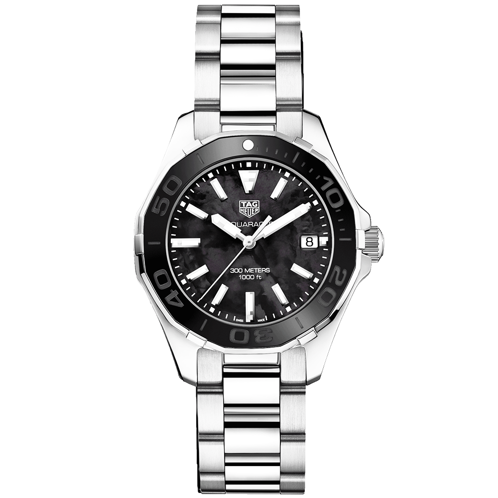 tag heuer aquaracer 300m black of pearl