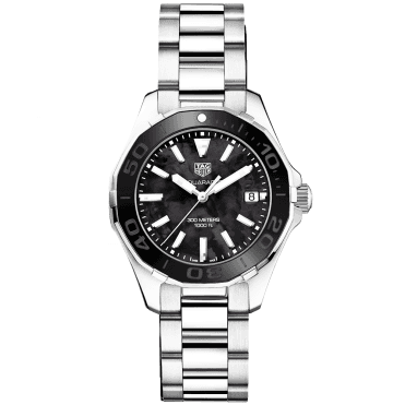 Aquaracer 300m Black Mother of Pearl Dial Ladies Bracelet Watch