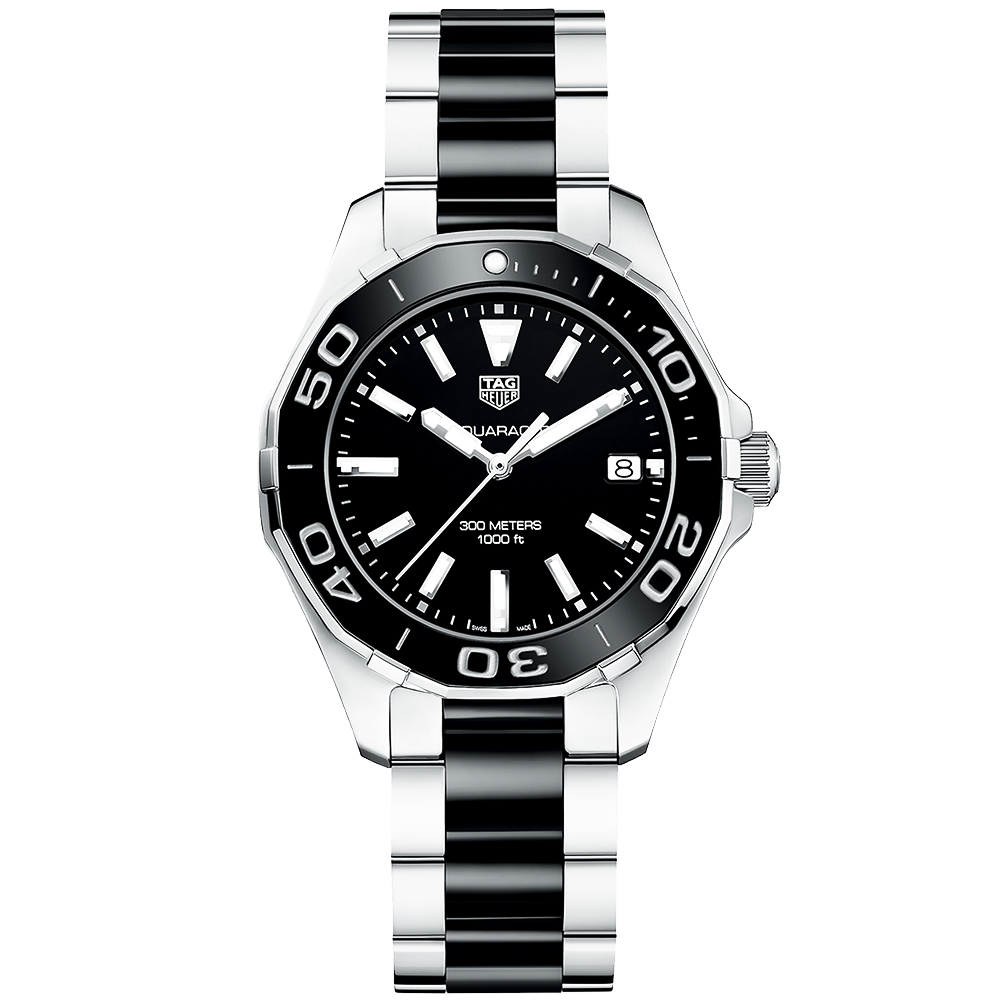7d1e2b3c0d0 TAG Heuer TAG Heuer Aquaracer 300m Steel   Black Ceramic Ladies Watch