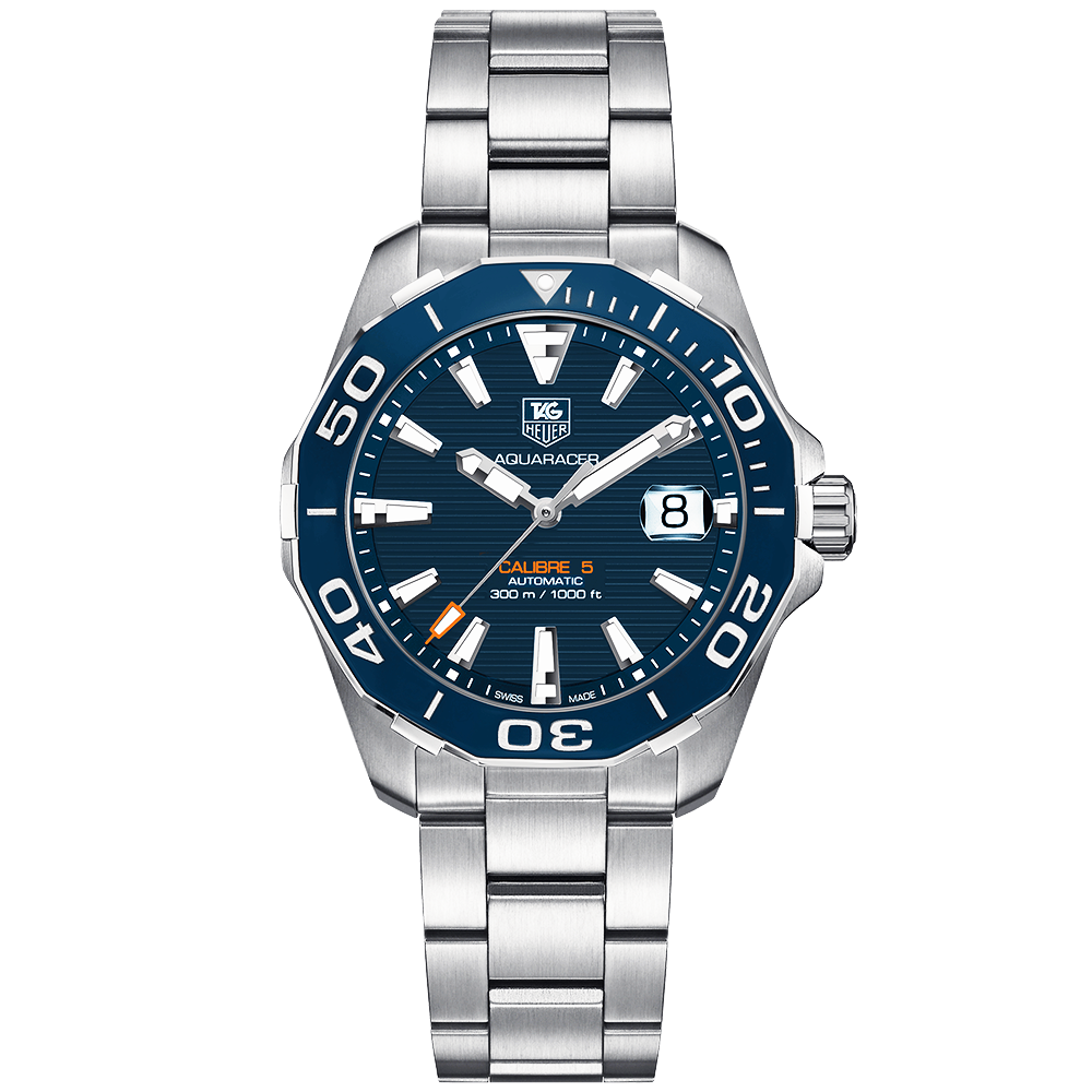 94718754871 TAG Heuer TAG Heuer Aquaracer 41mm Blue/Orange Dial Automatic Men's Watch