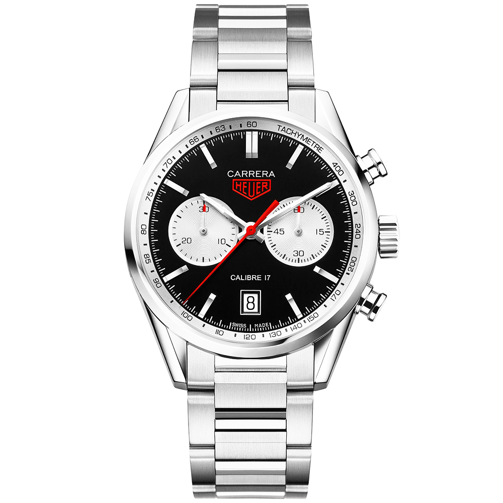 4c127c4dbd60 TAG Heuer TAG Heuer Carrera 41mm Black Silver Dial Men s Automatic Bracelet  Watch