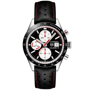 Carrera Calibre 16 41mm Black/White Dial Automatic Chronograph Watch