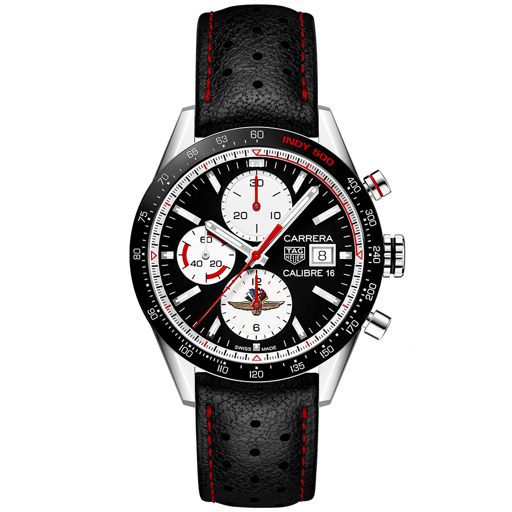 Carrera Calibre 16 41mm Indy 500 Limited Edition Chronograph Watch