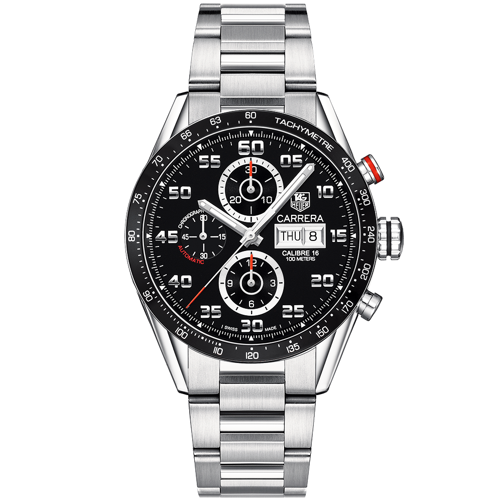 786841bfdc41 TAG Heuer TAG Heuer Carrera Calibre 16 Black Dial Automatic Bracelet Watch