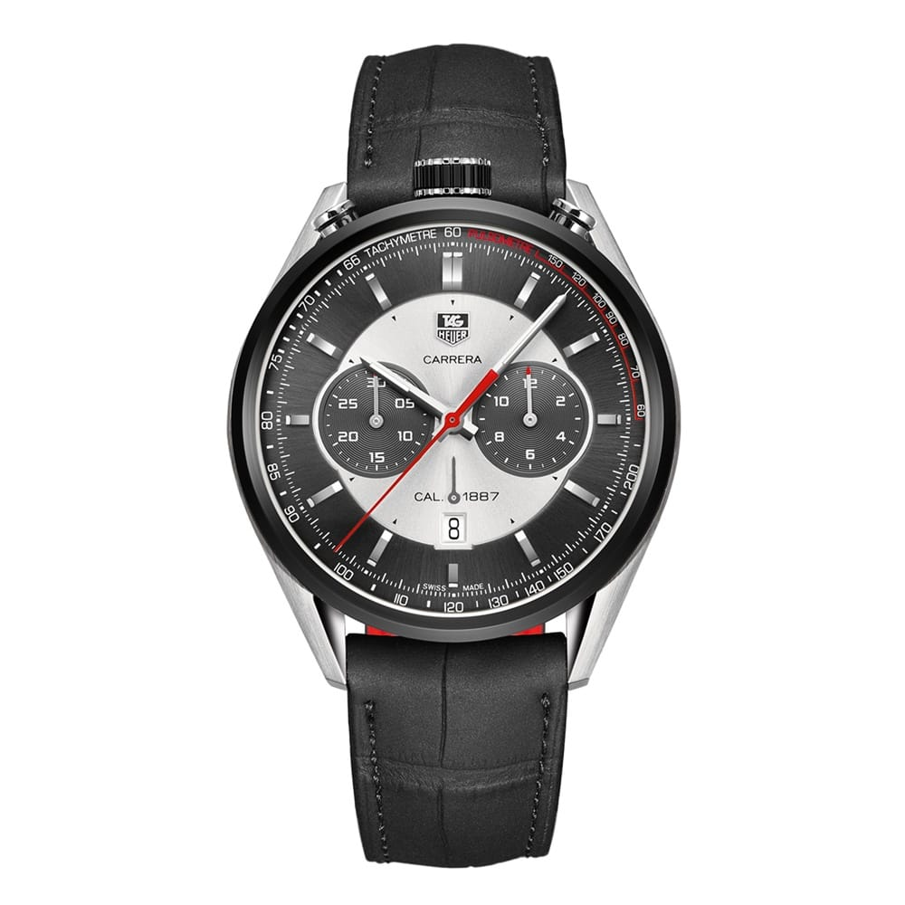 tag heuer carrera calibre 1887 men 39 s chronograph watch. Black Bedroom Furniture Sets. Home Design Ideas