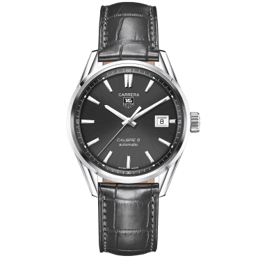 Carrera Calibre 5 Automatic Anthracite Dial & Strap Men's Watch