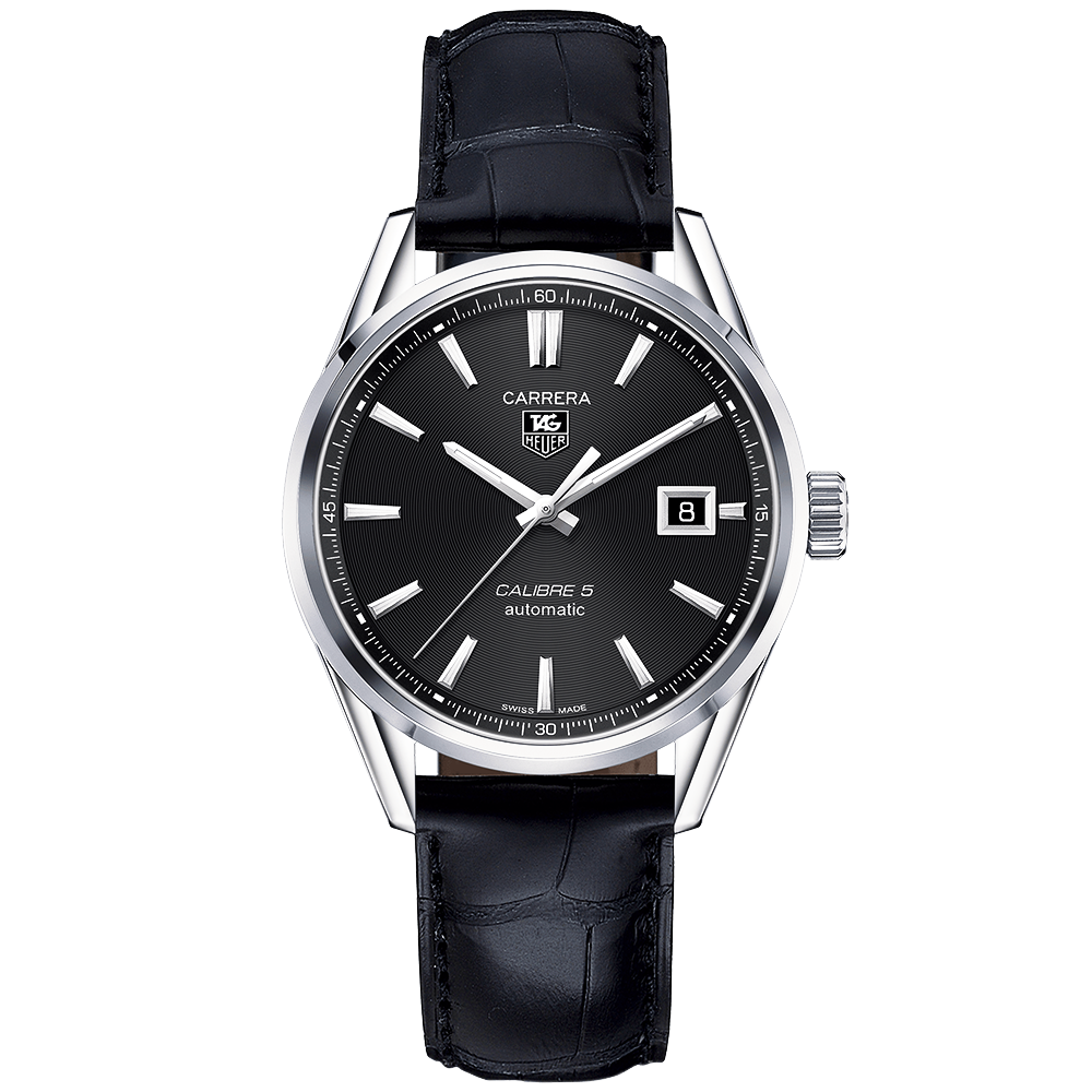 acce360ca3009 TAG Heuer TAG Heuer Carrera Calibre 5 Automatic Black Dial   Strap Men s  Watch
