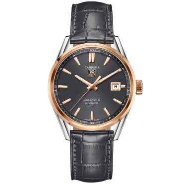 Carrera Calibre 5 Two-Tone Anthracite Dial & Strap Men's Watch