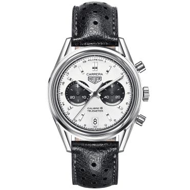 Carrera Heritage 39mm Silver/Black Dial Men's Chronograph Watch