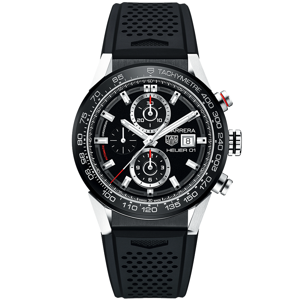 tag heuer carrera heuer 01 automatic chronograph men 39 s. Black Bedroom Furniture Sets. Home Design Ideas