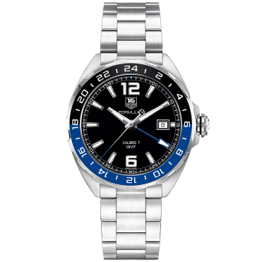 Formula 1 41mm Calibre 7 Black/Blue Bezel Men's GMT Watch