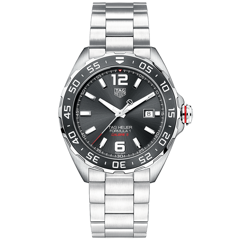 tag heuer formula 1 43mm anthracite dial men 39 s automatic watch. Black Bedroom Furniture Sets. Home Design Ideas