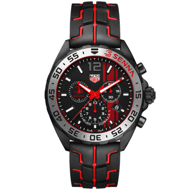 Formula 1 43mm Black /Red Dial Senna Special Edition Chronograph Watch