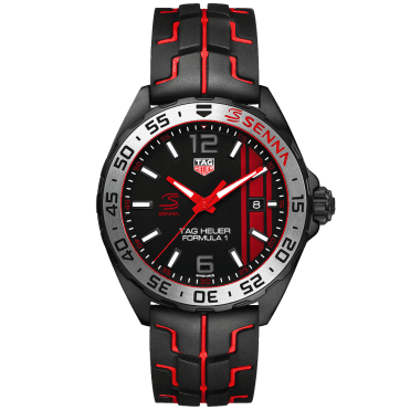 Formula 1 43mm Black /Red Dial Senna Special Edition Watch