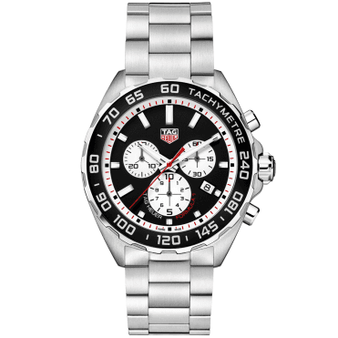 Formula 1 43mm Black/Silver Dial Men's Chronograph Bracelet Watch