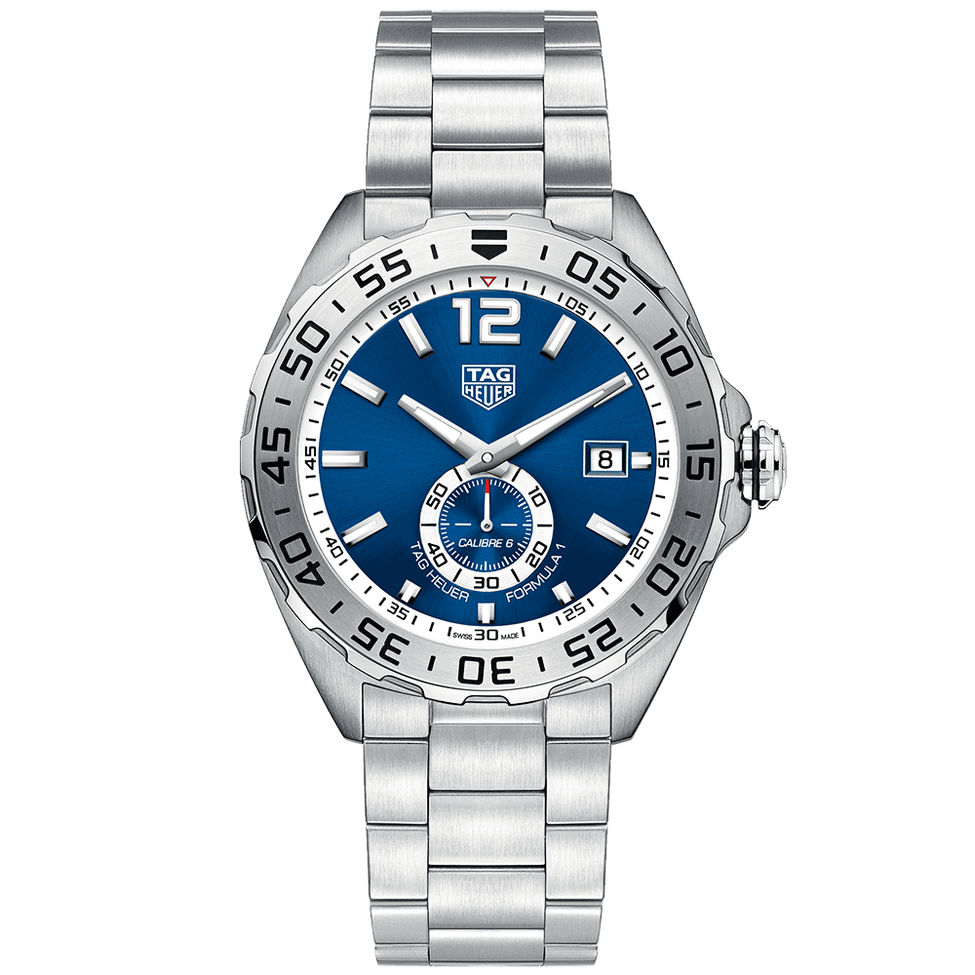 54f27368bd6 TAG Heuer TAG Heuer Formula 1 43mm Blue White Dial Men s Automatic Bracelet  Watch