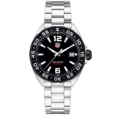 Formula 1 Black Dial & Bezel Men's Bracelet Watch