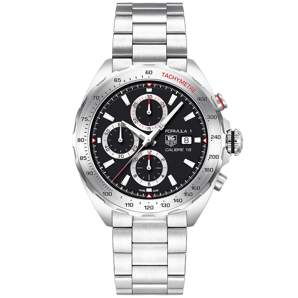 585225012eb Formula 1 Calibre 16 Automatic Chronograph Men s Bracelet Watch ONLINE ONLY  · TAG Heuer ...