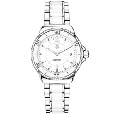 Formula 1 White Ceramic Diamond Set Bezel Ladies Watch