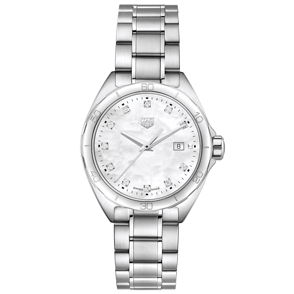 0c6eb000bed TAG Heuer TAG Heuer Formula One 32mm White Mother of Pearl Diamond Set Dial  Ladies Watch