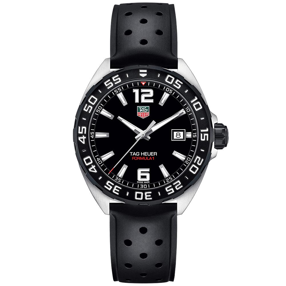 2431a4fdc522 TAG Heuer TAG Heuer Formula One Quartz Steel Black Dial Men s Strap Watch