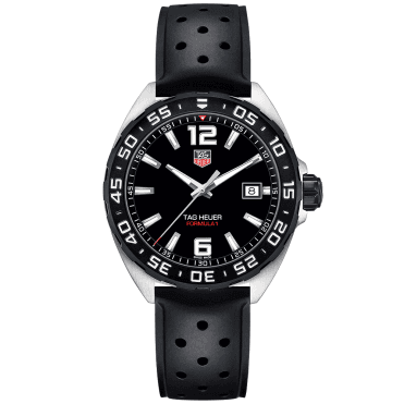 Formula One Quartz Steel Black Dial Men's Strap Watch