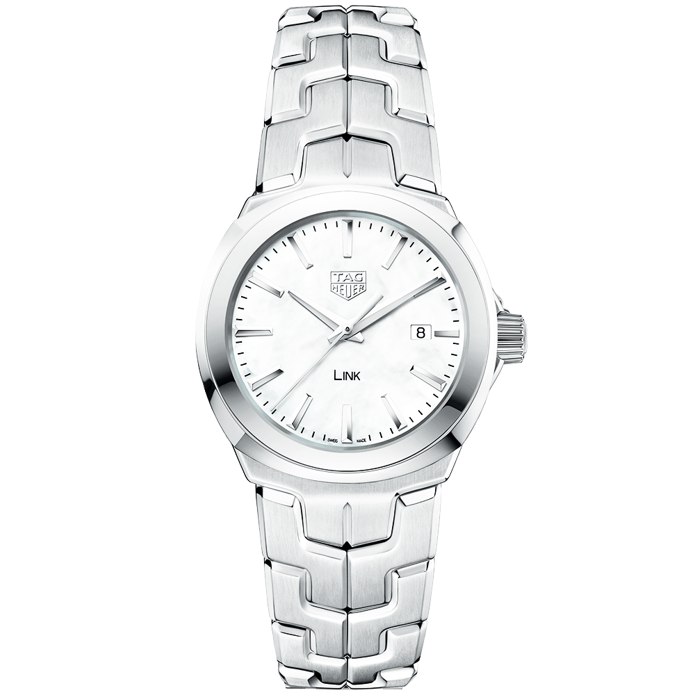 TAG Heuer Link 32mm White Mother of Pearl Dial Ladies ...