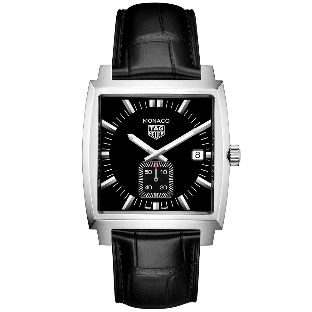 b9cd9da16811d TAG Heuer TAG Heuer Monaco 37mm Black Dial   Leather Strap Men s Watch