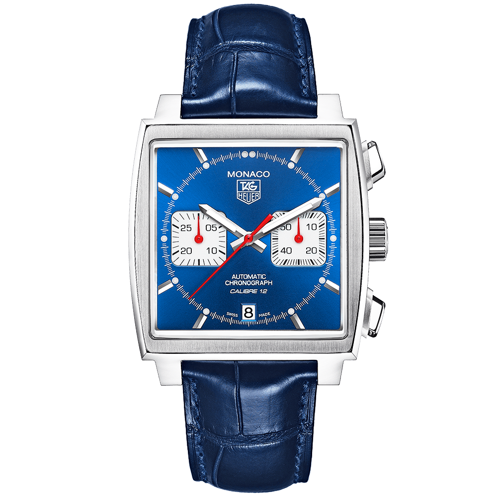TAG Heuer TAG Heuer Monaco Calibre 12 Automatic Chronograph Blue Dial Men s  Watch fb29d2ad1