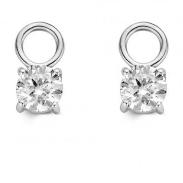 Cubic Zirconia Four Claw Ear Charms