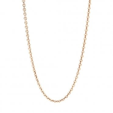 Rose Gold Plated Sterling Silver Chain Necklace